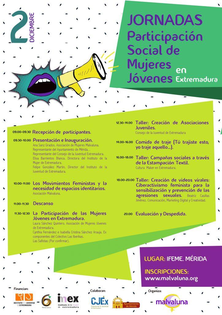 Participación social de mujeres jóvenes en Extremadura