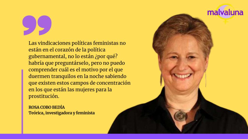 Rosa Cobo: «No podemos esperar más… llegó la hora que tengamos una Ley abolicionista»