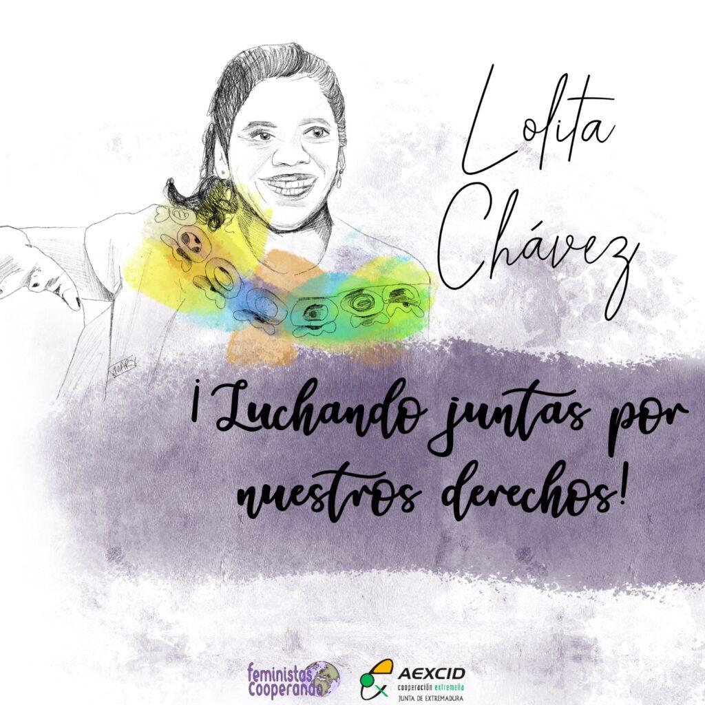 Lolita Chávez: mujer aguerrida que lucha por la defensa de la tierra